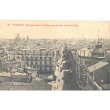 ANTIGUA POSTAL VALENCIA CALLE DE LA PAZ PEACE STREET OLD POSTCARD        TC11443
