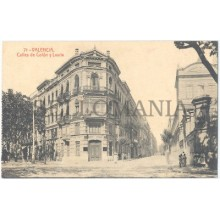 ANTIGUA POSTAL VALENCIA CALLES COLON Y LAURIA STREET OLD POSTCARD        TC11444