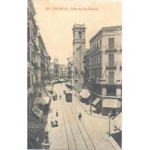 ANTIGUA POSTAL VALENCIA CALLE DE SAN VICENTE STREET OLD POSTCARD         TC11446