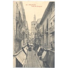 ANTIGUA POSTAL VALENCIA CALLE DE ZARAGOZA STREET OLD POSTCARD         TC11447