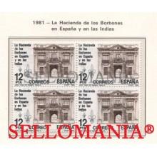 1981 HACIENDA BORBONES ESPAÑA INDIAS FISCAL ROYAL  EDIFIL 2642 ** MNH B4 TC21452