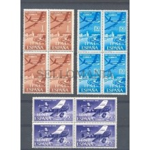 1966 IFNI PRO INFANCIA AVION JET EDIFIL 218/20 ** MNH COLONIAS AIRPLANE  TC11089