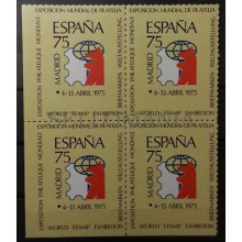 1975 VIÑETA ESPAÑA 75 ** B4 SIN DENTAR MARGEN IZQUIERDO VIGNETTE MNH     TC11146