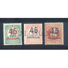 1938 CIFRAS HABILITADOS CON NUEVO VALOR EDIFIL 742/44 ** MNH CIVIL WAR   TC12100