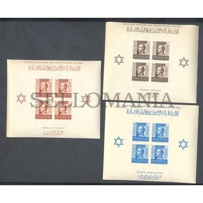 1938 MARRUECOS BENEFICENCIA EDIFIL 4/6 ** MNH PRO MUTILADOS GUERRA HB    TC12155
