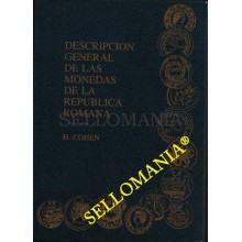 DESCRIPCION GENERAL DE LAS MONEDAS DE LA REPUBLICA ROMANA    AUTOR H. COHEN