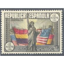 1938 CL ANIVERSARIO DE LA CONSTITUCION EEUU EDIFIL 763 ** MNH CIVIL WAR  TC12167
