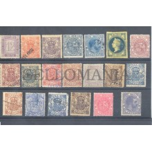 1868 - 1919 COLECCION 20 FISCALES ESPAÑOLES NUEVOS USADOS  FISCAL STAMPS TC12173
