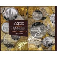 CATALOGO MONEDAS DE COLECCION EN EUROS DE LA REAL CASA MONEDA  1999 - 2016