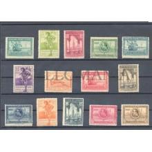 1929 PRO EXPOSICIONES SEVILLA Y BARCELONA EDIFIL 434/47 ** MNH LUJO LUXE TC10050
