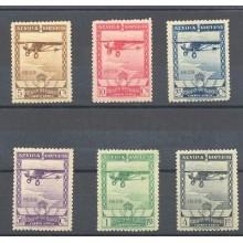 1929 PRO EXPOSICIONES DE SEVILLA Y BARCELONA EDIFIL 448/53 * MH LUJO     TC11000
