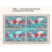 1969 L ANIVERSARIO SOCIEDADES CRUZ ROJA  1925  ** MNH B4  RED CROSS    TC21674