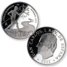 ESTUCHE FNMT MONEDA JUEGOS OLIMPICOS INVIERNO ESQUI 2002 10 EUROS PLATA  TC11946