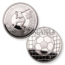 ESTUCHE FNMT MONEDA MUNDIAL DE FUTBOL 2002 PELOTA  10 EUROS PLATA        TC11949