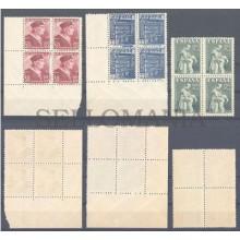 1946 ANTONIO DE NEBRIJA UNIVERSIDAD SALAMANCA PADRE BARTOLOME DE LAS CASAS HISPANIDAD 1002 / 04 ** MNH B4 TC12187