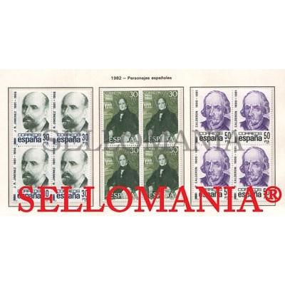 1982 CALDERON DE LA BARCA JUAN RAMON JIMENEZ EDIFIL 2646 / 48 ** MNH B4  TC21456