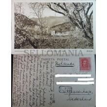 ANTIGUA POSTAL BARCELONA EL TIBIDABO DESDE SAN GINES AÑO 1929 ZERKOWITZ  CC3771