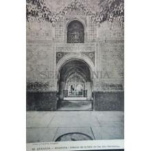 ANTIGUA POSTAL LA ALHAMBRA SALA DE LAS DOS HERMANAS GRANADA ANDALUCIA    CC3794