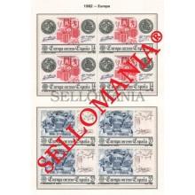 1982 EUROPA EUROPE AMERICA DISCOVERY BOAT EDIFIL 2657 / 58 ** MNH B4 TC21458