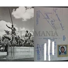 ANTIGUA POSTAL MADRID 1961 DON QUIJOTE Y SANCHO PANZA POSTCARD POSTKARTE CC3810