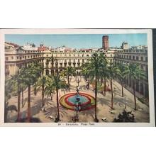 ANTIGUA POSTAL PLAZA REAL DE BARCELONA CALALUÑA POSTCARD POSTKARTE       CC3811