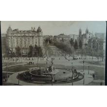 ANTIGUA POSTAL MADRID HOTEL RITZ FUENTE PLAZA NEPTUNO POSTCARD POSTKARTE CC3825