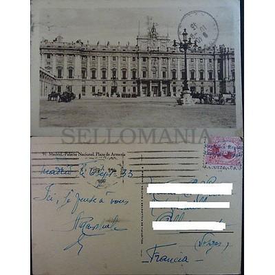 ANTIGUA POSTAL MADRID 1933 PALACIO NACIONAL PLAZA DE ARMERIA POSTCARD    CC3839