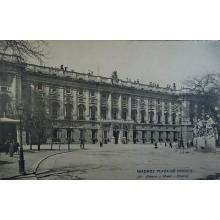 ANTIGUA POSTAL MADRID PLAZA DE ORIENTE HAUSER Y MENET POSTCARD POSTKARTE CC3845
