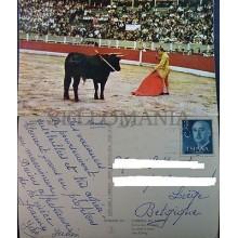 POSTAL MANOLO VAZQUEZ CORRIDA TOROS 1961 TAUROMAQUIA BULLS POSTCARD      CC3898