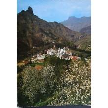 ANTIGUA POSTAL LAS PALMAS ALMENDROS EN FLOR ROQUE BENTAYGA CANARIAS      CC3903