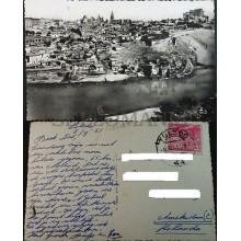 ANTIGUA POSTAL TOLEDO 1951 VISTA PANORAMICA CASTILLA LA MANCHA POSTCARD  CC04092
