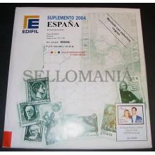 OFERTA SUPLEMENTO EDIFIL AÑO 2004 B-4 SELLOS+HB MONTADO ESTUCHE NEGROS 53€ PVP