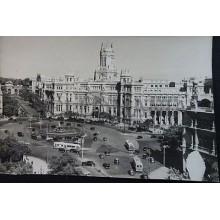 ANTIGUA POSTAL MADRID CIBELES Y PALACIO DE COMUNICACIONES FOTO ZERKOWITZ CC04167