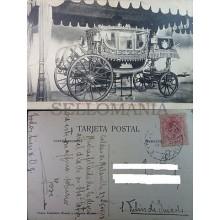POSTAL 1918 MADRID PALACIO REAL REALES CABALLERIZAS CARROZA REY POSTCARD CC04173