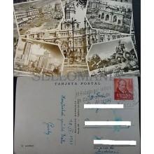 POSTAL 1961 MADRID PUERTA ALCALA PALACIO COMUNICACIONES CIBELES POSTCARD CC04175