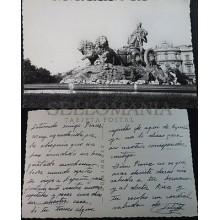 ANTIGUA POSTAL 1960 MADRID FUENTE DE LA CIBELES POSTCARD POSTKARTE       CC04180