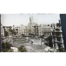 ANTIGUA POSTAL MADRID PLAZA LA CIBELES PALACIO COMUNICACIONES POSTCARD   CC04185