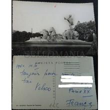 ANTIGUA POSTAL 1950 MADRID FUENTE DE NEPTUNO POSTCARD POSTKARTE          CC04238