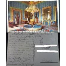 ANTIGUA POSTAL 1958 MADRID PALACIO REAL ANTECAMARA DE GASPARINI POSTCARD CC04241