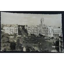 ANTIGUA POSTAL MADRID PLAZA LA CIBELES PALACIO COMUNICACIONES POSTCARD   CC04242