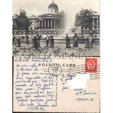 POSTCARD LONDON TRAFALGAR SQUARE 1956 ENGLAND LONDRES INGLATERRA POSTAL CC03439 UK