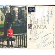 POSTCARD LONDON GUARDSMAN TOWER LONDON 1969 ENGLAND LONDRES INGLATERRA POSTAL CC03441 UK