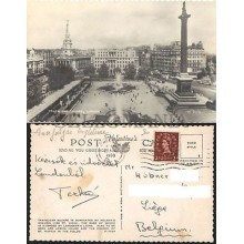 POSTCARD LONDON TRAFALGAR SQUARE 1960 ENGLAND LONDRES INGLATERRA POSTAL CC03442 UK