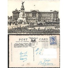 POSTCARD BUCKINGHAM PALACE LONDON 1958 LONDRES UNITED KINGDOM ENGLAND    CC03443