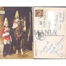 POSTCARD LONDON MOUNTED LIFE HOUSE GUARD 1967 ENGLAND LONDRES INGLATERRA POSTAL  CC03444 UK