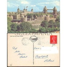 POSTCARD LONDON TOWER BRIDGE 1969 ENGLAND LONDRES INGLATERRA POSTAL CC03448 UK