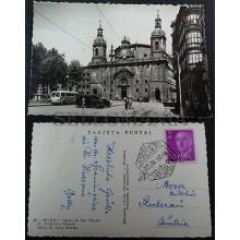ANTIGUA POSTAL BILBAO VIZCAYA 1956 IGLESIA SAN NICOLAS PAIS VASCO        CC03495