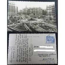 ANTIGUA POSTAL BILBAO VIZCAYA 1950 PLAZA FEDERICO MOYUA POSTCARD         CC03496