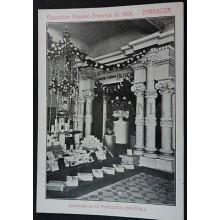ANTIGUA POSTAL EXPO HISPANO FRANCESA 1908 ZARAGOZA PAPELERA ESPAÑOLA     CC03521