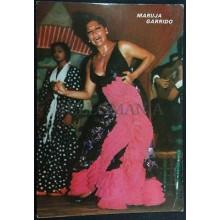 ANTIGUA POSTAL MARUJA GARRIDO 1977 LOS TARANTOS FLAMENCO BARCELONA DANCE CC03523